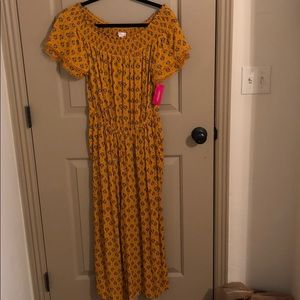 Yellow jump suit!